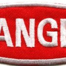 Danger sign signal warning caution alert applique iron-on badge patch new S-639