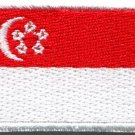 Flag of Singapore Singapura Singaporean applique iron-on patch Medium new S-722