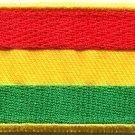 Flag of Bolivia Bolivian South America Peru applique iron-on patch Medium S-814