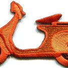 Motor scooter motorcycle cycle bike motorbike applique iron-on patch new S-374