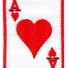 Ace of Hearts playing cards retro poker las vegas applique iron-on patch S-12