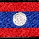 Flag of Laos Laotian Southeast Asia applique iron-on patch new Medium S-775