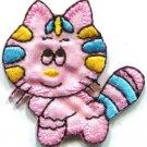 Cute kitty cat kitten feline retro applique iron-on patch new S-557