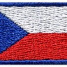 Flag of Czech Republic Czechoslovakia sew applique iron-on patch Small S-1007