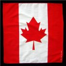 Canadian Canada flag bandana handkerchief headwrap head wrap biker 20X20 in. new
