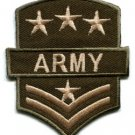 Army military insignia embroidered iron-on patch S-89