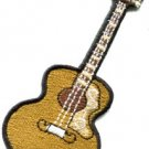 Guitar acoustic flamenco musical instrument applique iron-on patch new S-489