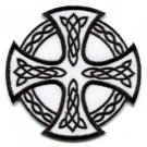 Celtic Cross Irish goth tattoo druids wicca pagan applique iron-on patch new S-6