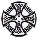 Celtic Cross Irish goth tattoo druids wicca pagan applique iron-on patch new S-6
