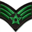 Army military insignia rank war biker retro applique iron-on patch new S-490