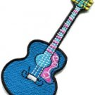 Guitar acoustic flamenco musical instrument applique iron-on patch new S-488