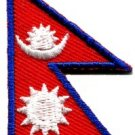 Flag of Nepal Nepalese Buddha Buddhism peace applique iron-on patch small S-365