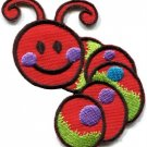 Caterpillar worm insect bug retro kids fun applique iron-on patch new S-700