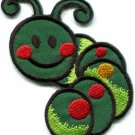 Caterpillar worm insect bug retro kids fun applique iron-on patch new S-702