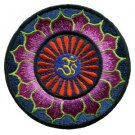 Aum om infinity hindu hinduism yoga indian trance applique iron-on patch new T-4