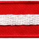 Flag of Austria Austrian Vienna Europe sew applique iron-on patch Small S-1008