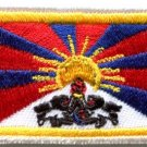 Flag of Tibet Tibetan Buddhist snow lion applique iron-on patch new Med. S-844