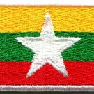 Flag of Myanmar Myanma Burma Burmese Asia applique iron-on patch new Med. S-842