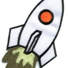 Rocket missile spacecraft aircraft outer space ufo applique iron-on patch S-46