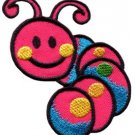Caterpillar worm insect bug retro kids applique iron-on patch Small new S-185