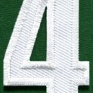 Number 4 numeral math counting four school applique iron-on patch new S-939