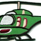 Helicopter chopper copter kids flying fun sewing applique iron-on patch S-673