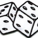 Pair of dice craps gambling Las Vegas poker applique iron-on patch new S-741