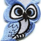 Owl bird of prey hoot animal wildlife applique iron-on patch new S-682