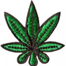 Pot leaf marijuana weed hippie applique iron-on patch new Small S-703 FREE WORLDWIDE DELIVERY!
