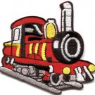 Train engine choo choo railroad retro applique iron-on patch S-303 WORLDWIDE DELIVERY IS FREE!
