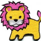Lion cat puma jaguar tiger cheetah animal cute kids applique iron-on patch S-744
