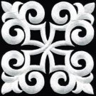 White trim fleur de lis fringe boho retro sew applique iron-on patch new S-1093