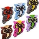 Lot of 6 owl bird of prey hoot animal wildlife applique iron-on patches new