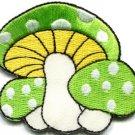 Mushroom retro boho hippie 70s love peace weed applique iron-on patch new S-346