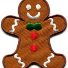 Gingerbread Man cookie kids fun sweets buscuit applique iron-on patch new S-239