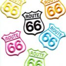 Lot of 6 Route 66 retro muscle cars 60s americana USA appliques iron-on patches