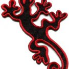 Lizard gekko salamander retro hippie hippy boho fun applique iron-on patch S-605