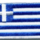Flag of Greece Greek Hellenic freedom or death applique iron-on patch Med. S-349