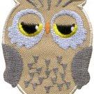 Owl bird of prey hoot animal wildlife applique iron-on patch new S-596