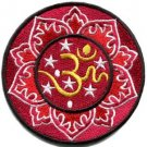 Aum om infinity hindu hinduism yoga indian trance applique iron-on patch S-1062