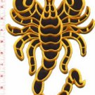 Scorpion biker tattoo Muay Thai applique iron-on patch BIG XL 7.63 x 11 in S-232
