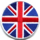 Union Jack British flag UK United Kingdom applique iron-on patch Small S-115
