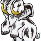 Bull elephant pachyderm tusker wildlife BIG 5X8 in. applique iron-on patch S-602