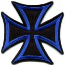 German Iron Cross biker applique iron-on patch S-87