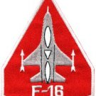 F-16 fighting falcon USAF air force jet aircraft applique iron-on patch S-653