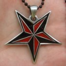 Pentagram pentacle satanic occult wicca witch boho pewter pendant necklace new