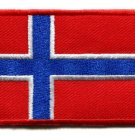 Flag of Norway Norwegian Europe applique iron-on patch Medium new S-94