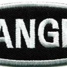 Danger sign signal warning caution alert applique iron-on badge patch new S-790