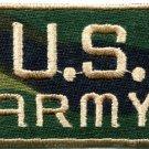 Army camo military insignia rank war biker retro applique iron-on patch S-632