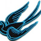 Bird tattoo swallow dove swiftlet sparrow biker applique iron-on patch new S-568